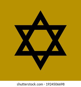 Holocaust Remembrance Day with a religious print of the Stars of David - the symbol of Judaism, seamless pattern background for memorial ceremonies and official national events
