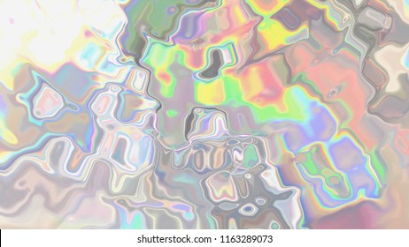 Holographic iridescent wrinkled foil illustration.