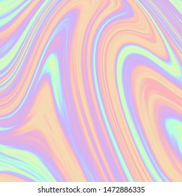 Holographic  texture in blue pink green colors Holographic color foil. Holographic rainbow foil abstract background. fluid holographic paint art