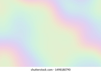 Holographic texture. Modern glowing surface background. Abstract shapes, colorful oil on the water reflection