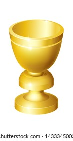 A holy grail cup gold chalice goblet illustration