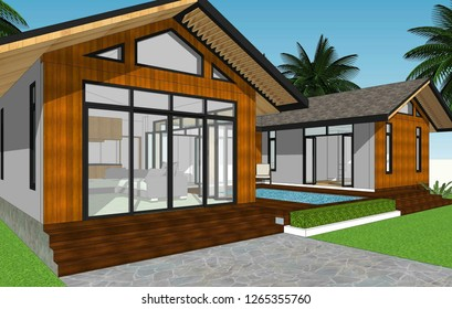 Home 3D animation