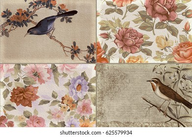 home decorative oil paint  wall tiles design pattern background,