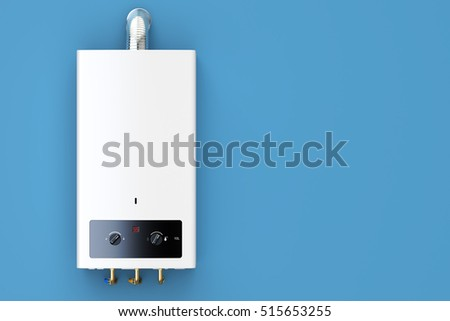 Home Gas Boiler Water Heater 3 D Stock Illustration 515653255 ...
