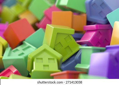 Home market concepts, 3d render.