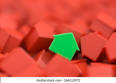 Home market and real estate concept, original 3d models.