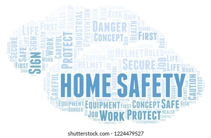 Home Safety word cloud.