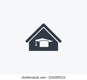 Home schooling icon isolated on clean background. Home schooling icon concept drawing icon in modern style. illustration for your web mobile logo app UI design.