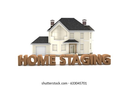 Home Staging - Sales and Marketing - 3D Illustration