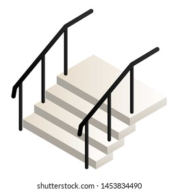 Home stairs icon. Isometric of home stairs icon for web design isolated on white background
