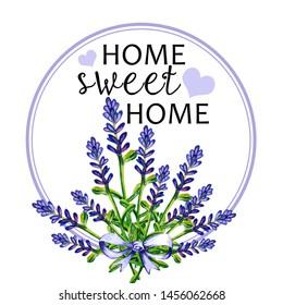 Home sweet home  hand draw art illustration