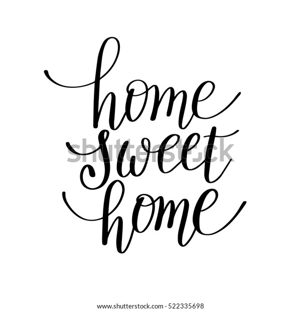 photograph about Home Sweet Home Printable known as Household Adorable Property Handwritten Calligraphy Lettering Inventory