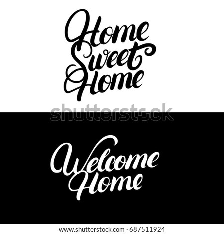 Home Sweet Home Welcome Home Hand Stock Illustration Royalty Free