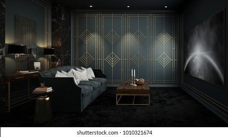 Art Deco Interior.Art Deco Interior Stock Illustrations Images Vectors Shutterstock