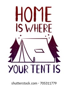 Type Hipster Slogan Home Where Your Stock Illustration Royalty