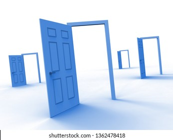 Homebuyer Doorway Illustrates Buying A Home, Apartment Or House. Housing Ownership Using Mortgage Or Cash - 3d Illustration