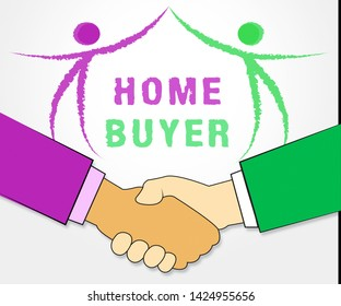 Homebuyer Icon Illustrates Buying A Home, Apartment Or House. Housing Ownership Using Mortgage Or Cash - 3d Illustration