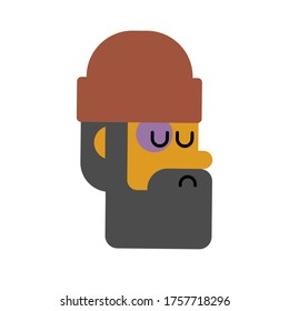 Homeless face. Beggars head, Poor portrait. bum hobo