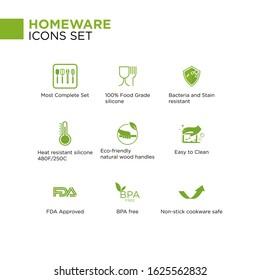 Homeware Icon Set Illustration Packaging