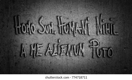 Homo Sum, Humani Nihil a Me Alienum Puto - I am human, and nothing of which is human is alien to me - Latin Phrase
