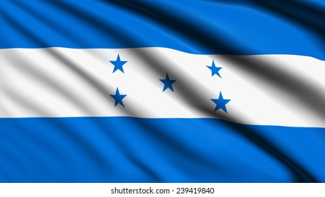 Honduras flag with fabric structure