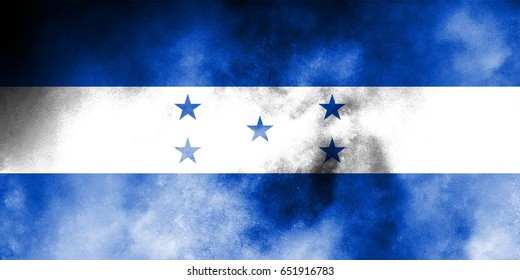 Honduras flag grunge background. Background for design in country flag