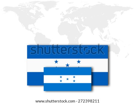 Honduras Flag World Map Background Stock Illustration 272398211