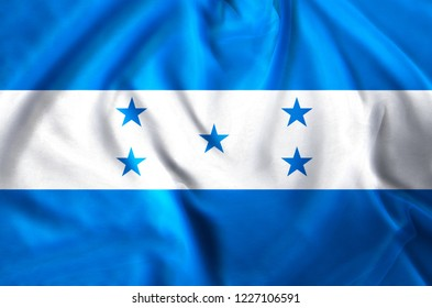 Honduras modern and realistic closeup flag illustration. Perfect for background or texture purposes.