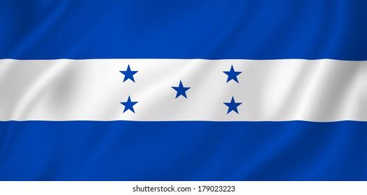 Honduras national flag background texture.