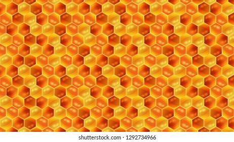 Honey combs and honey pattern