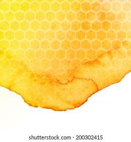 honey watercolor background
