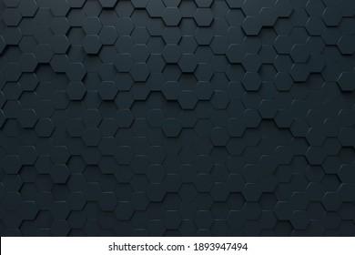 Honeycomb abstract wallpaper. 3d rendering image