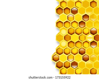 honeycomb close up as background