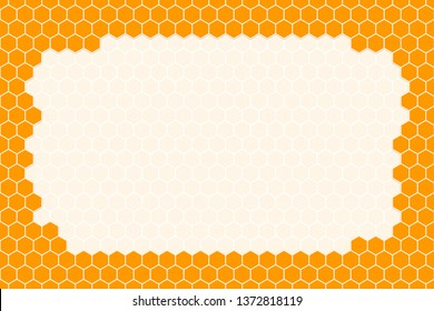Honeycomb gradient Grid seamless background or Hexagonal cell texture. with empty space on the center or middle for your text.