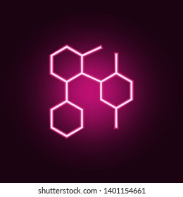 honeycomb icon. Elements of Web in neon style icons. Simple icon for websites, web design, mobile app, info graphics