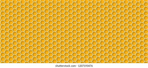 Honeycomb monochrome honey seamless pattern Vector cell cells hexagon mosaic background raster fun funny honey bee honeycombs Beehive orange  yellow honeycomb ornament seamless