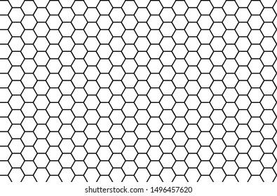 Honeycomb monochrome honey seamless pattern hexagons of geometric shapes mosaic background