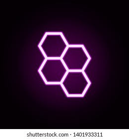 honeycombs neon icon. Elements of autumn set. Simple icon for websites, web design, mobile app, info graphics