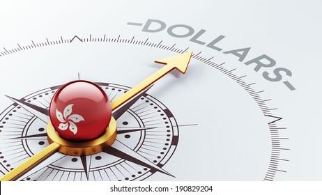 Hong Kong High Resolution Dollars Concept