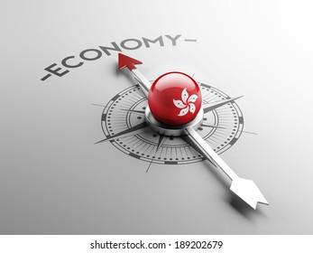 Hong Kong High Resolution Economy Concept