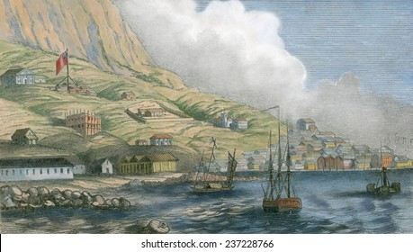 Hong Kong was a rough British settlement in the early 1840s The Chuanbi Convention between Britain and China ceded Hong Kong to Britain for $6 million on Jan.