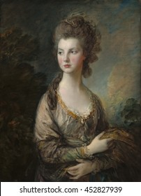 The Honorable Mrs. Thomas Graham, by Thomas Gainsborough, 1775-77, British painting, oil on canvas. Born the Honorable Mary Cathcart, daughter of 9th Baron Cathcart, who was Ambassador to Catherine t