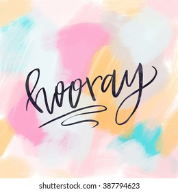 Hooray Calligraphy Background Wall Art