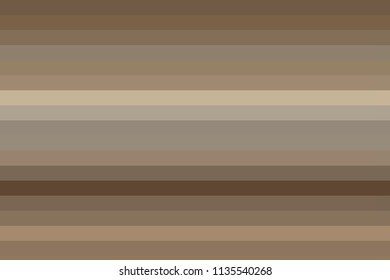 Horisontal stripes in light caffe macciato tones, as astract wallpaper background, differing in colors with copy space.