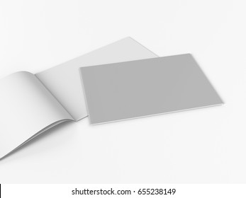 Horizontal A4 brochure or catalog. 3D rendering