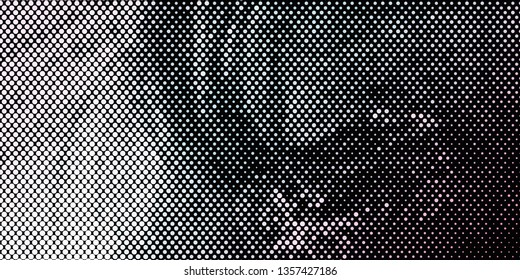 Horizontal abstract background with spotted halftone effect. Dots pattern