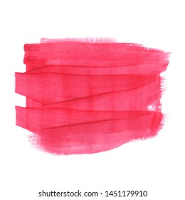 Horizontal abstract template for text. Hand painted in gouache. The texture of the brush. Stylish matte red neon pink magenta pattern for wedding invitations, cards, posters.
