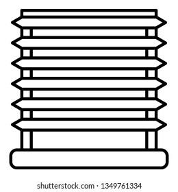 Horizontal louvers icon. Outline horizontal louvers icon for web design isolated on white background