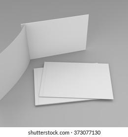 horizontal magazines on gray background