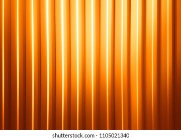 Horizontal orange panels with light leak illustration background